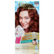 Bigen Cream Color e Push 6 45 Light Caramel Brown Hair Care