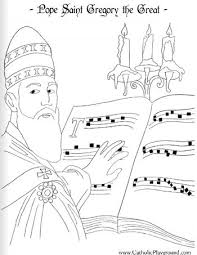 Pope Saint Gregory The Great Coloring Page September