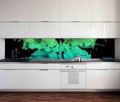 aufkleber küchenrückwand abstrakte kunst blau grün schmetterling küche folie selbstklebend dekofolie fliesen möbelfolie spritzschutz 22c020