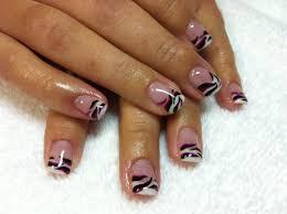 Nail Art Glitter French Tip Gel Nails Nail Designs Toe