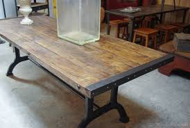 bureau industriel metal bois table bois metal industriel table de salon bois et metal chaise