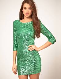 tfnc london tfnc sequin dress with long sleeves in green lyst