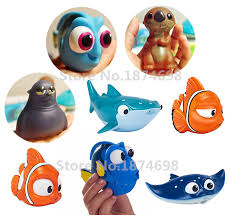 finding dory baby bath toy set of 8 dory nemo little dory mr ray