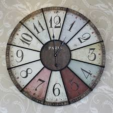 Large Coloured Paris Wall Clock Melody Maison In Colorful Clocks Design 19