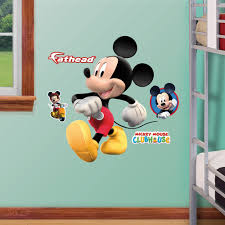 Mickey Mouse Bathroom Wall Decor by Mickey Mouse Fathead Jr Walmart Com