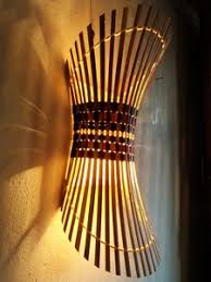 handmade bamboo light shade wall sconce home kitchen