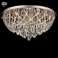 moderne runde kristall deckenleuchten wohnzimmer schlafzimmer halle beleuchtung led le warme continental idr 0106