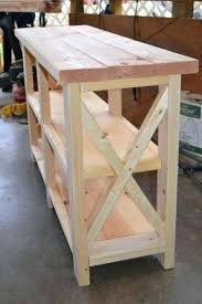 Diy Entry Table White Home Bar Furniture Rustic Farmhouse Entryway