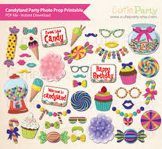 Candyland Party Photo Booth Prop Theme Printable Themed Birthday