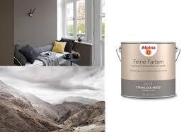 alpina 2 5 l feine farben no 1 stärke der berge zeitloses grau edelmatte wandfarbe für innen