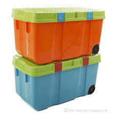 Christmas Tree Storage Tote With Wheels by 90l Funky Tough Box On Wheels 30 Pack Plastic Box Shop