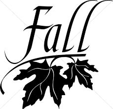 Fall Black And White Church Clipart
