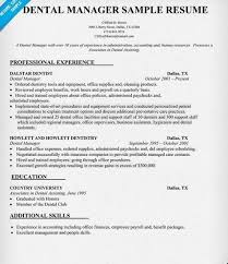 Dentist Resume Samples VisualCV Database