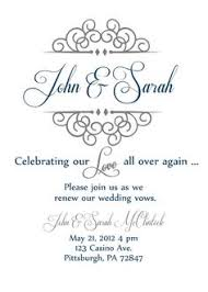 Vow Renewal Invite Great Idea For Later Chris Instead Of John