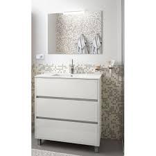 badmöbel set badezimmer möbel schrank 80 cm mit waschtisch weiß weiss mit spiegel