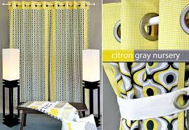 michael miller fabrics citron gray nursery panel curtains with