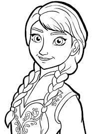 Queen Elsa Only Sister Princess Anna Coloring Pages