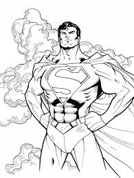 Superman Sighn Colouring Pages Symbol Coloring