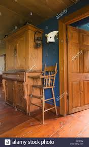 Antique Pinewood Armoire And High Chair In The Dining Room ...