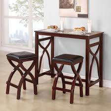 Enticing Dining Room Sets For Small Apartments With Smart Elements Impressive Twin Leather Cushioned Stools