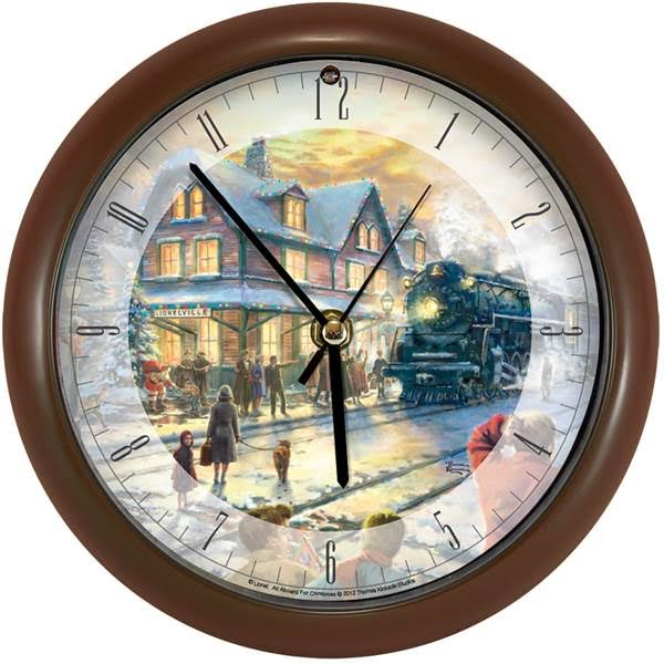 Mark Feldstein Mfclk8tkaafc All Aboard for Christmas Clock