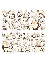 wandtattoo set kaffeetassen küche esszimmer in braun