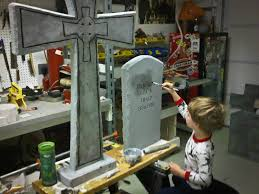 Diy Halloween Wood Tombstones by 62 Spooktacular Diy Halloween Decorations