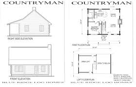 Cool Design 2 Free Hunting Cabin Plans Small House With Loft Floor