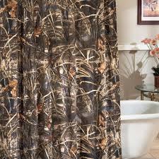 Orange Camo Bathroom Decor by Rustic Shower Curtains Moose Bear U0026 Pinecone Designs