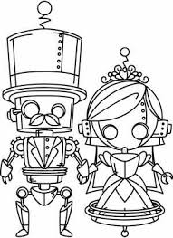 Steampunk Wedding Free Printable Coloring Page