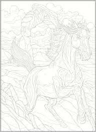 Welcome To Dover Publications Creative Haven Horses Color By Number Coloring Book George Toufexis