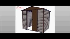 8x6 Wood Storage Shed by Yardmaster Shiplap 8x6 Tbsl Metal Shed How To Assemble Youtube