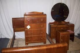 Waterfall Vanity Dresser Set by Art Deco Waterfall Furniture