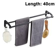 handtuchhalter ohne bohren handtuchhalter bad 40 cm wand montage badetuchhalter handtuchstange aus edelstahl mit haken doppelt badezimmer küche 2