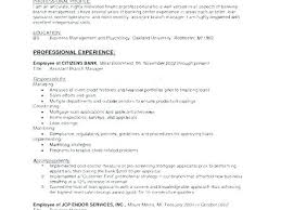 Branch Manager Resume Examples Credit Union Sample