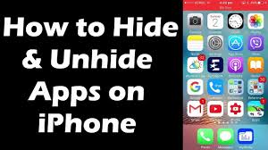 How to hide and unhide apps on I phone iOS 9 3 1 iOS 10