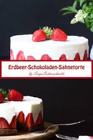 erdbeer sahne torte mit schokoboden ohne gelatine süße