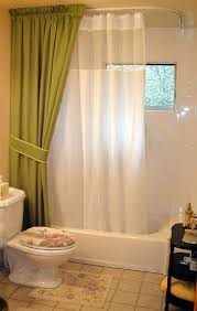 Floor To Ceiling Tension Rod Curtain by Best 25 Shower Rod Ideas On Pinterest Shower Storage Bathroom