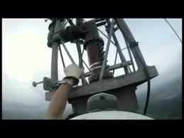 bulb changing on a 1768 ft tower