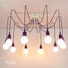 retro classic pendant ls colorful e27 spider light bulb holder