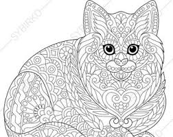 Kitten Coloring Page For National Pet Day Greeting Cards Animal Book