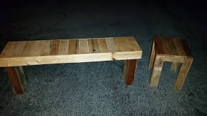How To Build Wooden End Table by How To Build An End Table U0026 Bench From Pallets 2016 Sterling