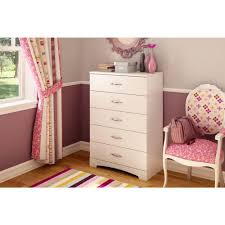 South Shore Furniture Dressers by South Shore Step One 5 Drawer Pure White Dresser 3160035 The