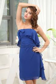 celebrity inspired royal blue chiffon party dress cocktail dresses