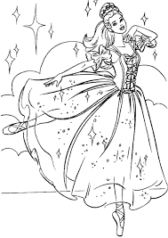 Free For Kids Coloring Pages Barbie Princess 19 Printable