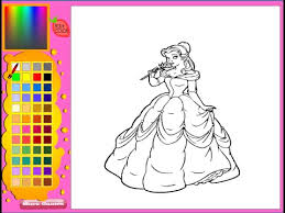 Princess Belle Coloring Pages