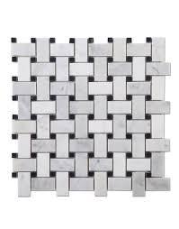 basketweave carrara marble mosaic tile diflart italy carrara