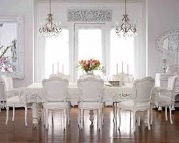 Shabby Chic Dining Room by Large Shabby Chic Dining Room With Double Small Chandeliers Over