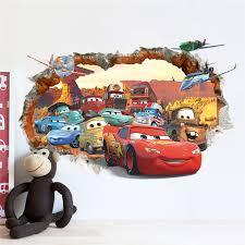 stickers voiture pour chambre garcon autocollant mural pour chambre d enfants cars shippay