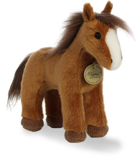 Aurora World Miyoni Plush Toy Animal, Brown Horse, 9.5""